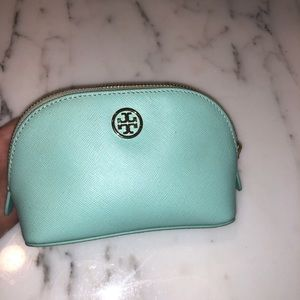 Turquoise Tory Burch small Makeup/Toiletry Bag